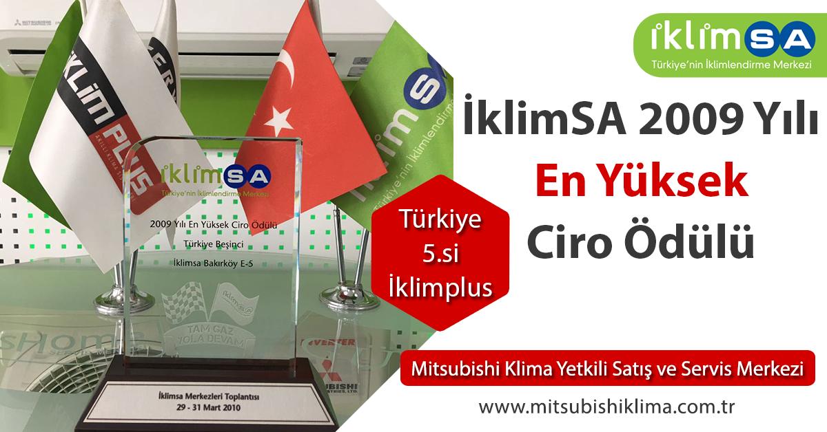 İklimSA 2009 Yılı En Yüksek Ciro Ödülü Türkiye 5.si İklim Plus