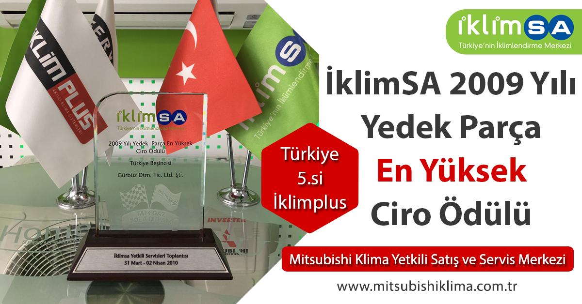 İklimSA 2009 Yılı Yedek Parça En Yüksek Ciro Ödülü Türkiye 5.si İklimPlus